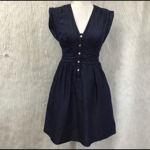 GUESS Dark Denim Dress XS